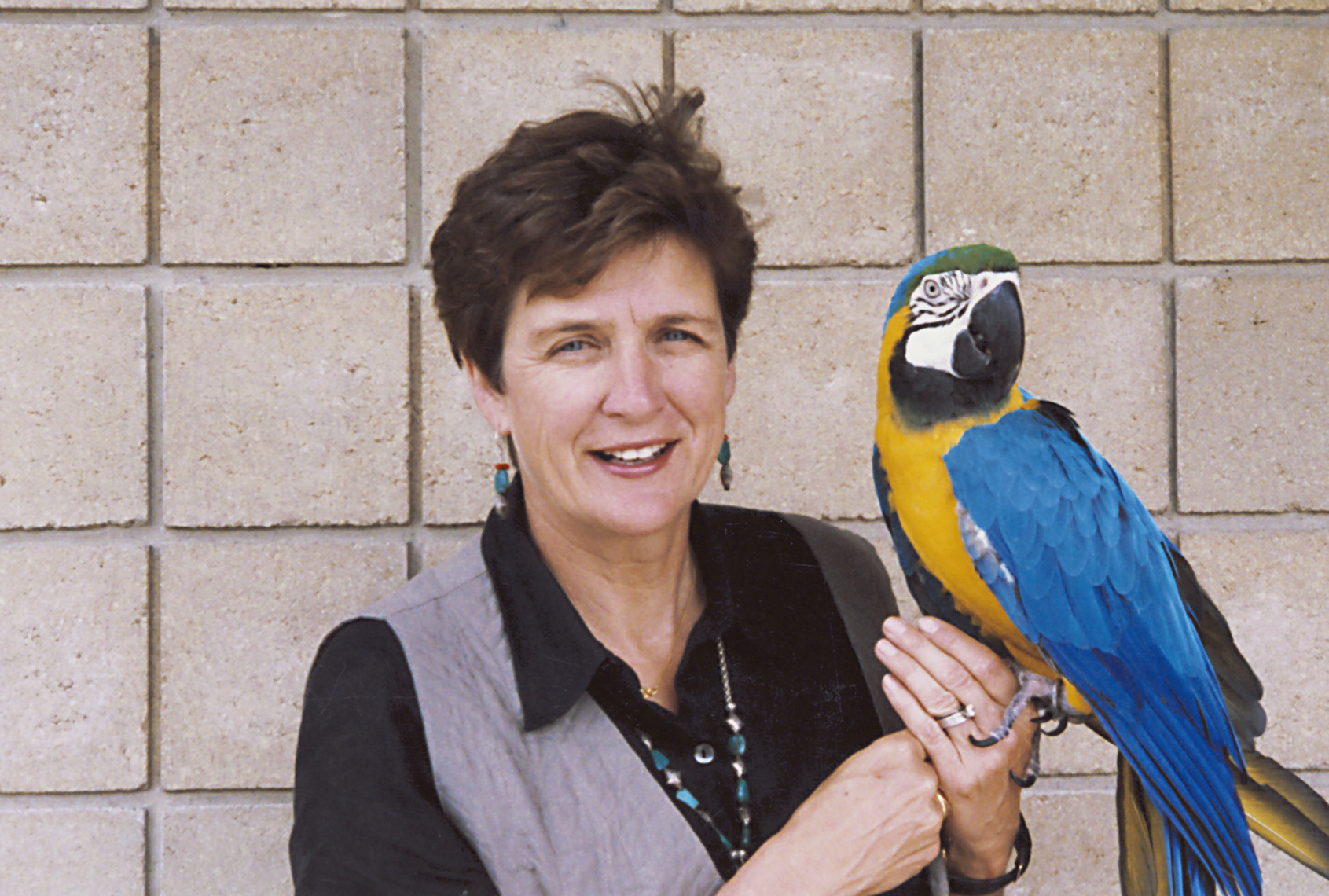 Former Tulsa Zoo Friends Director Mary Collins with Oscar