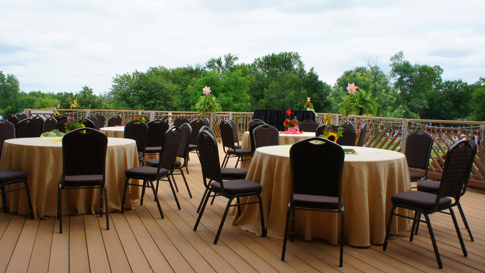 Events H A Chapman Event Lodge Deck